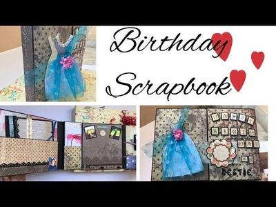 Birthday Scrapbook. Scrapbook ideas. Gate Fold Album. Birthday Gift for Best Friend