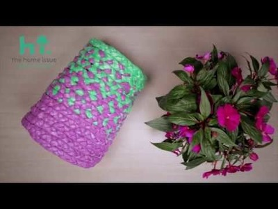 BRAIDED Plastic Baskets DIY by spirossoulis.com