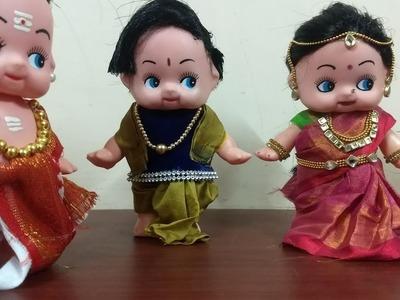 Diy baby Barbie doll to traditional doll #kalpana saranam