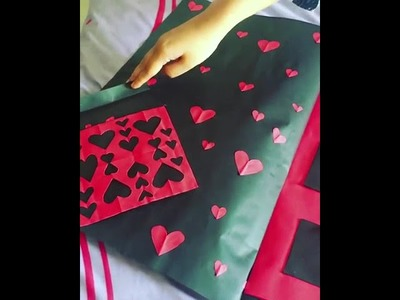 DIY birthday card ideas with simple red and black color.