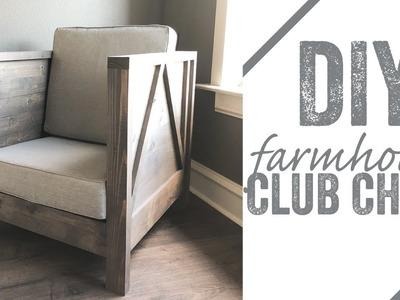 DIY Farmhouse Club Chair