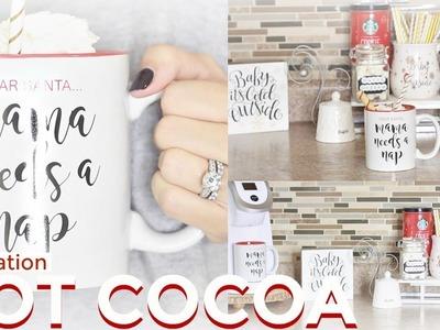 DIY Hot Cocoa Bar   Hot Chocolate Station   Christmas Decor