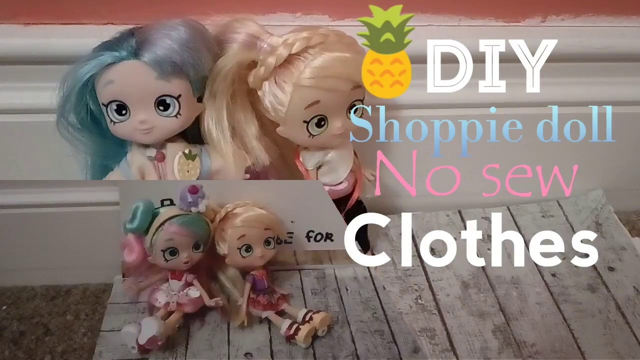 DIY No-Sew Shoppie doll clothes! T-shirt, skirt, shoes,leggings!!!~ oodles of doodles