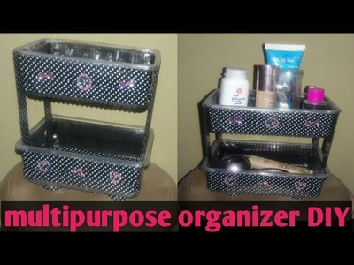 Diy organizer | multipurpose organizer | shelf made from boxes | best out of waste