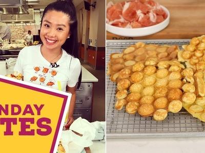 DIY Savory Bubble Waffles   Food Network