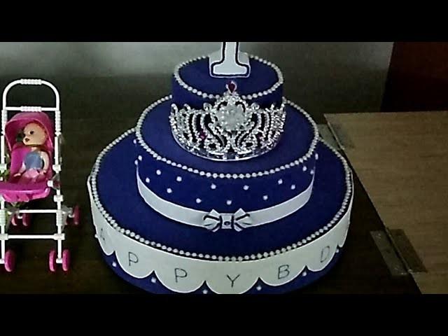 DIY Thermocole.Foam cake#1st Birthday Decoration#SS Krafts#21