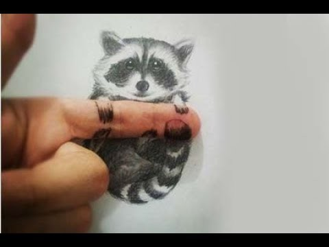 Easy 3D Pencil Drawing and illustrations Trick Art - 3D