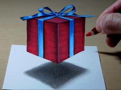Gift, 3D Trick Art on Paper, Long Version