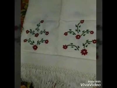 Hand embroidery design.Hand stitch.Nakshi kantha