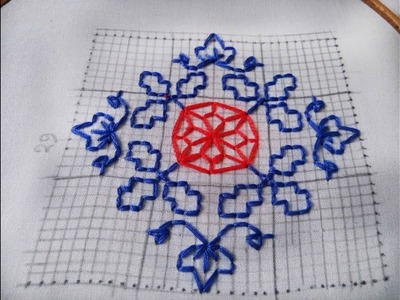 Hand Embroidery new nakshi katha design video tutorial by Nakshi  katha