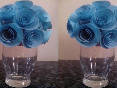How  make paper rose ball.Decorative flower ball.