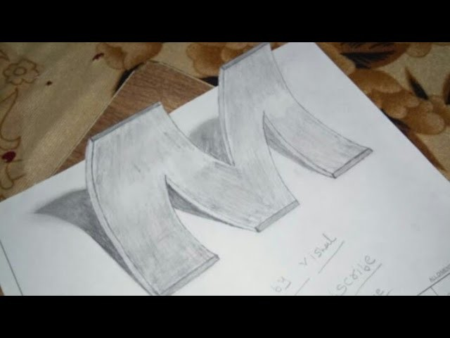 How To Draw 3d Letter M Drawing With Pencil By Yo Yo Rocks