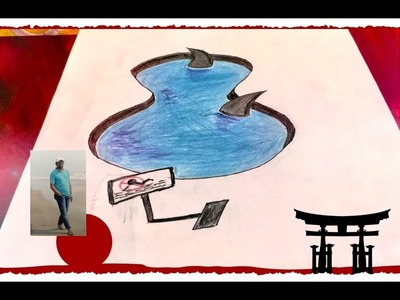 How to Draw 3D Shark Pond