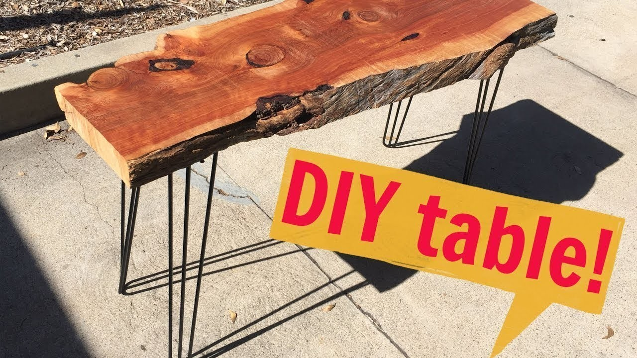 How to Make a Modern Hairpin Leg Table   DIY with Caitlin Video   Do it Yourself