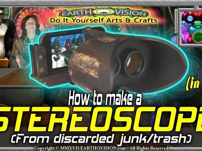 How to make a Stereoscope. 3D viewer (from junk.trash)(in 2D)(Do It Yourself Arts & Crafts)