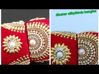 How to make disaner silkythird fancy bangle.diy.naveenapujari