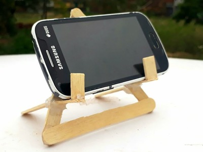 How to make DIY mobile stand. easy ice cream stick mobile stand. waste popsicle art and craft.