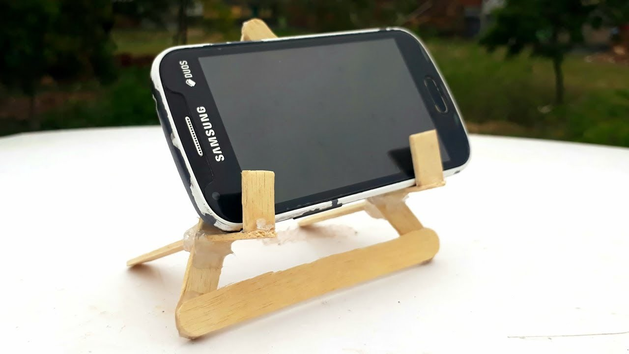 How to make DIY mobile stand  easy ice cream stick mobile