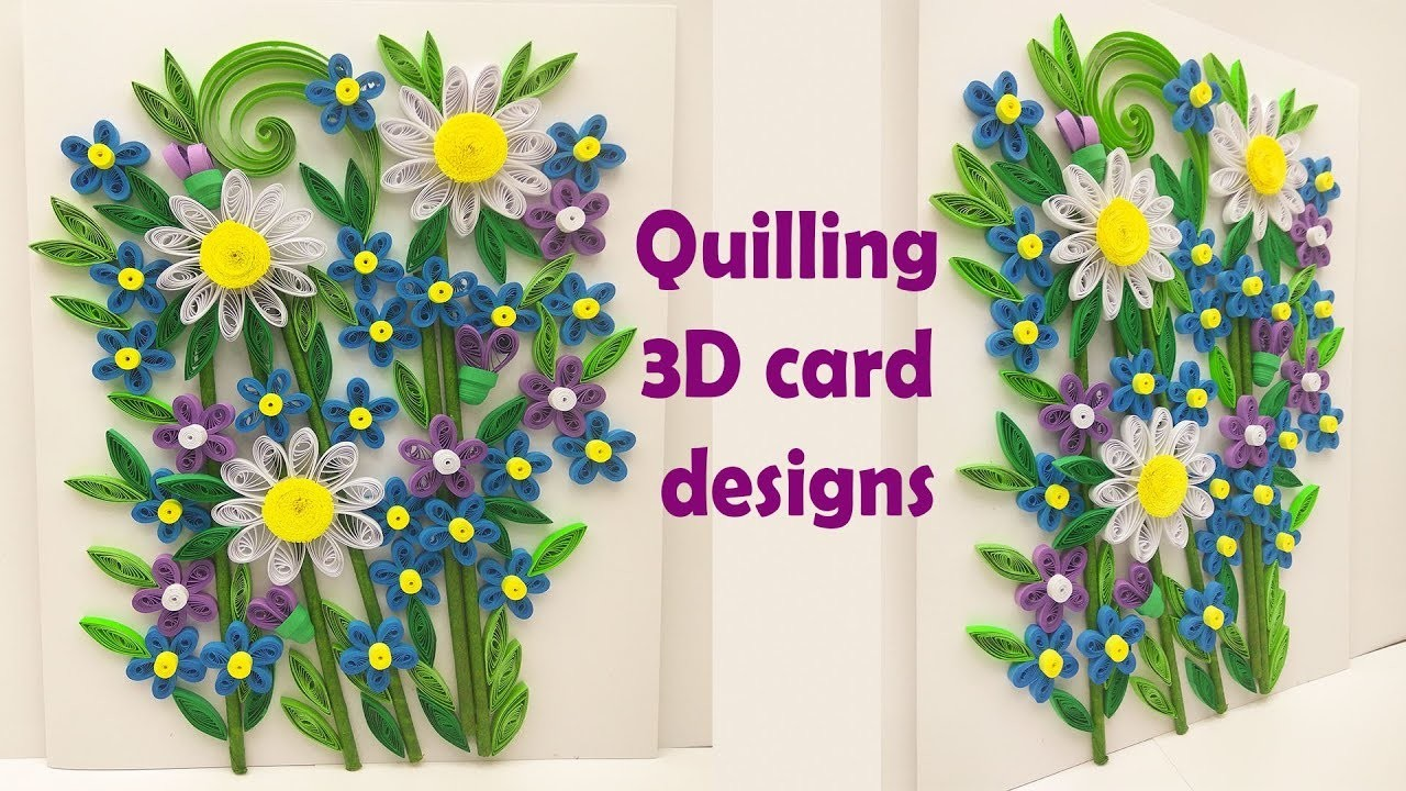 How To Make Handmade Greeting Card Quilled Greeting Card Ideas