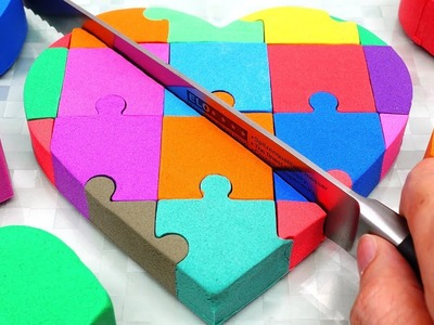 Learn Colors Mad Mattr Rainbow Puzzle Cake DIY How to make for Kids