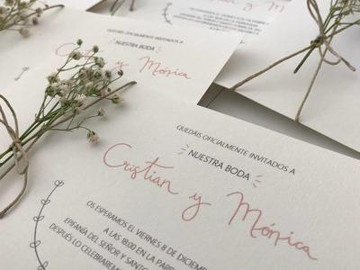 Making of ???? | Invitaciones de boda | CyM • DIY