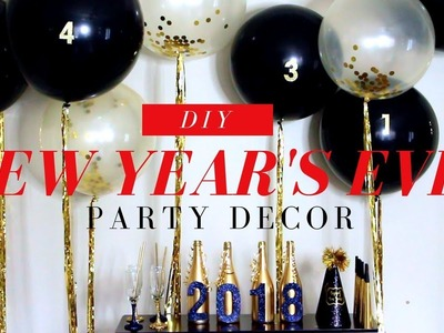 NEW YEAR'S BALLOON BACKDROP | DIY NEW YEAR'S EVE PARTY DECOR