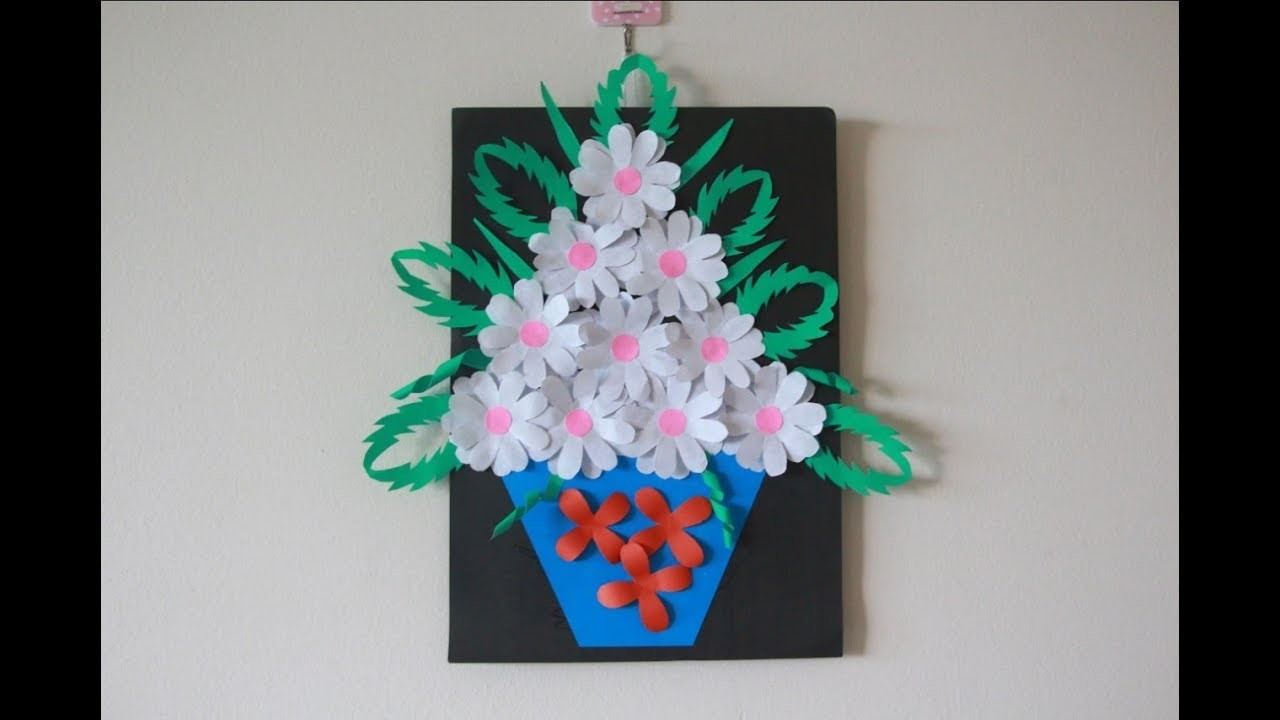Simple Home Decor Wall Decoration Hanging Flower Beautiful Paper