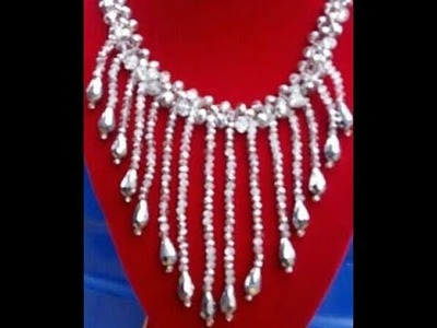 The tutorial on how to make this drop down beaded jewelry.