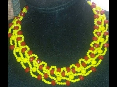 The tutorial on how to make this flatron beaded necklace