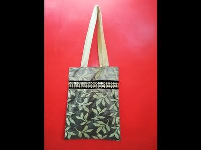 Tote Bag Made In Simple & Easy Method (DIY)