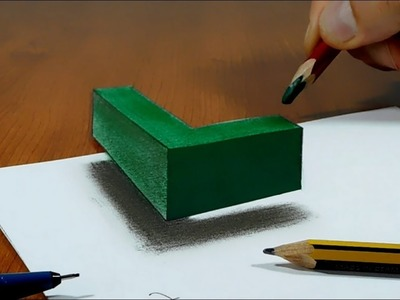 draw 3d hole stairs quick realistic easy 3d drawing 3d hole
