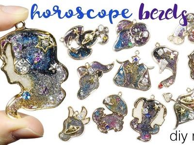 Watch Me Resin: Glitter Galaxy Zodiac.Daily Horoscope Open Bezel Tutorial