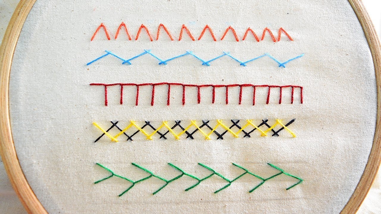 Basic Hand Embroidery Stitches Tutorial For Beginners Part 2