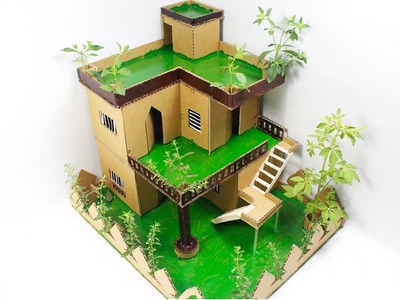 Beautiful Cardboard House Project DIY at Home