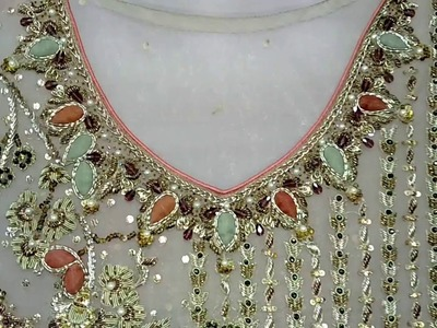 Beautiful Short length shirt | Hand Embroidery fancy shirt | zardozi embroidery on net | HD video