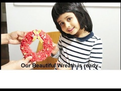 Christmas Decorations| Making Christmas Wreath |  With Rice and Glue | Activity With Kids | Fun Time