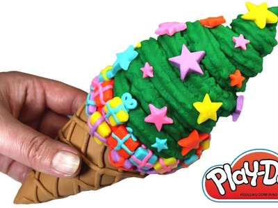 Christmas Tree Play Doh Ice Cream Cone How to Make Play Doh Xmas Tree Clay Creative Fun for Kids