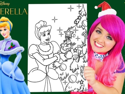 Coloring Cinderella Christmas Winter Coloring Book Page Prismacolor Colored Pencil   KiMMi THE CLOWN