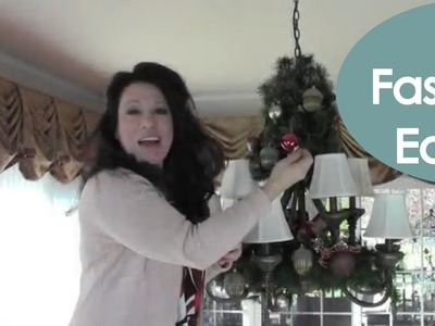 Decorate a Holiday Chandelier for Christmas (easy how to) - Renee Romeo