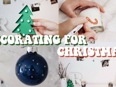 DECORATING MY ROOM FOR CHRISTMAS 2017! (CHEAP & EASY)