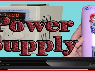 DIY bench power supply in old dvd player at home