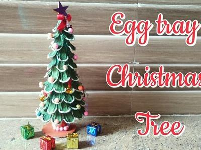 DIY Christmas Tree. Christmas Tree Making From EggTray. Christmas Tree making For Kids Project