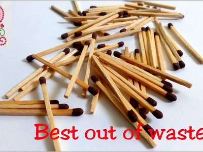 DIY : Craft ideas || Best out of waste || Earrings making using Matchsticks