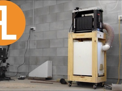 DIY Mobile Planer Cart With Built In Dust Collection