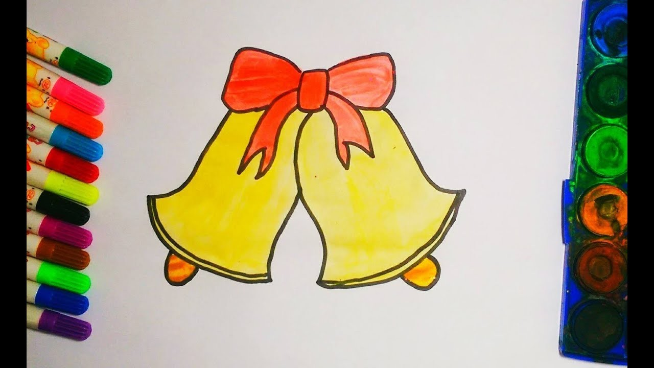 Drawing Christmas Bells For Kids How To Draw Bell For Kids Abs