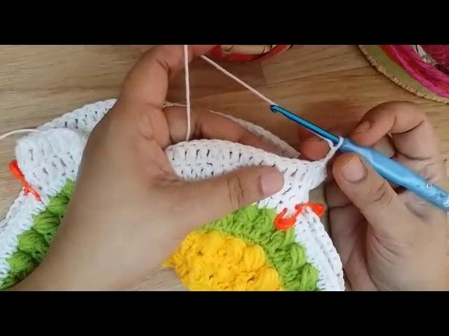 Easy crochet baby dress -3