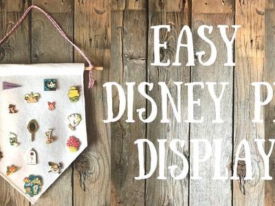 Easy DIY Disney Pin Display | Pinterest Inspired