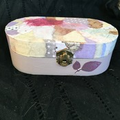 Hand crafted upcycled small wooden trinket box.