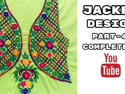 Hand Embroidery: Jacket Design   Leaf stitch   Part-4 Completed