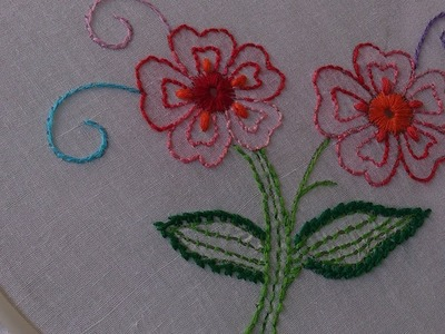Hand embroidery. -Chickenkari.shadow work.luknowi embroidery. Jali work.